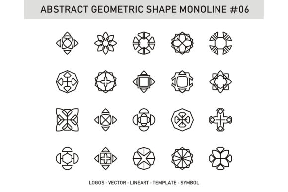 Abstract Geometric Shape Monoline 06 Graphic Patterns By Acongraphic