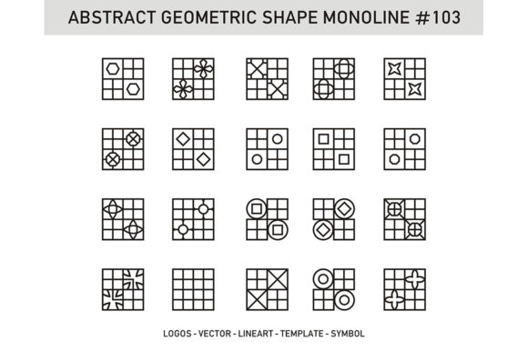 Abstract Geometric Shape Monoline 103 Graphic Patterns By Acongraphic - Image 1