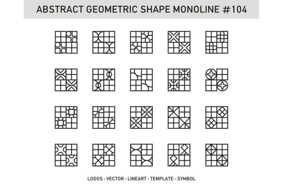 Abstract Geometric Shape Monoline 104 Graphic Patterns By Acongraphic - Image 1