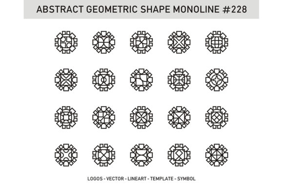 Abstract Geometric Shape Monoline 228 Graphic Patterns By Acongraphic - Image 1