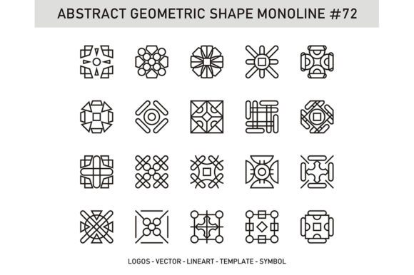 Download Free Abstract Geometric Shape Monoline 72 Grafico Por Acongraphic for Cricut Explore, Silhouette and other cutting machines.