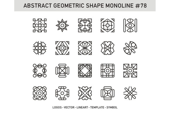 Abstract Geometric Shape Monoline 78 Graphic Patterns By Acongraphic - Image 1