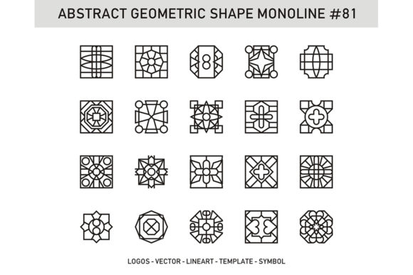 Abstract Geometric Shape Monoline 81 Graphic Patterns By Acongraphic - Image 1