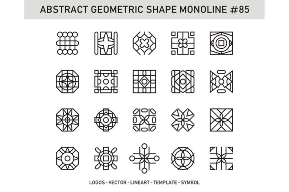 Abstract Geometric Shape Monoline 85 Graphic Patterns By Acongraphic - Image 1