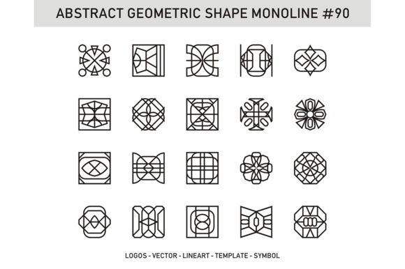 Abstract Geometric Shape Monoline 90 Graphic By Acongraphic Image 1