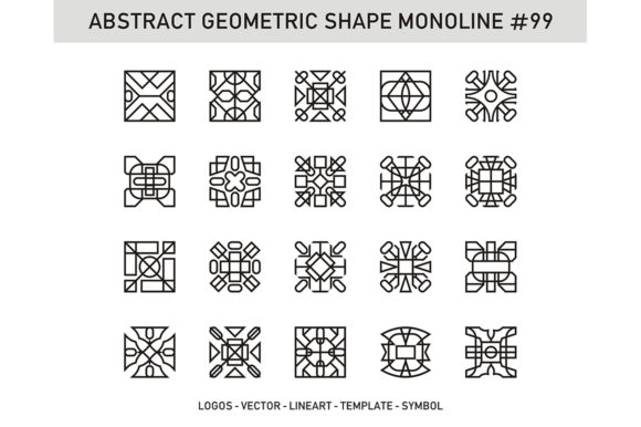 Abstract Geometric Shape Monoline 99 Graphic Patterns By Acongraphic - Image 1
