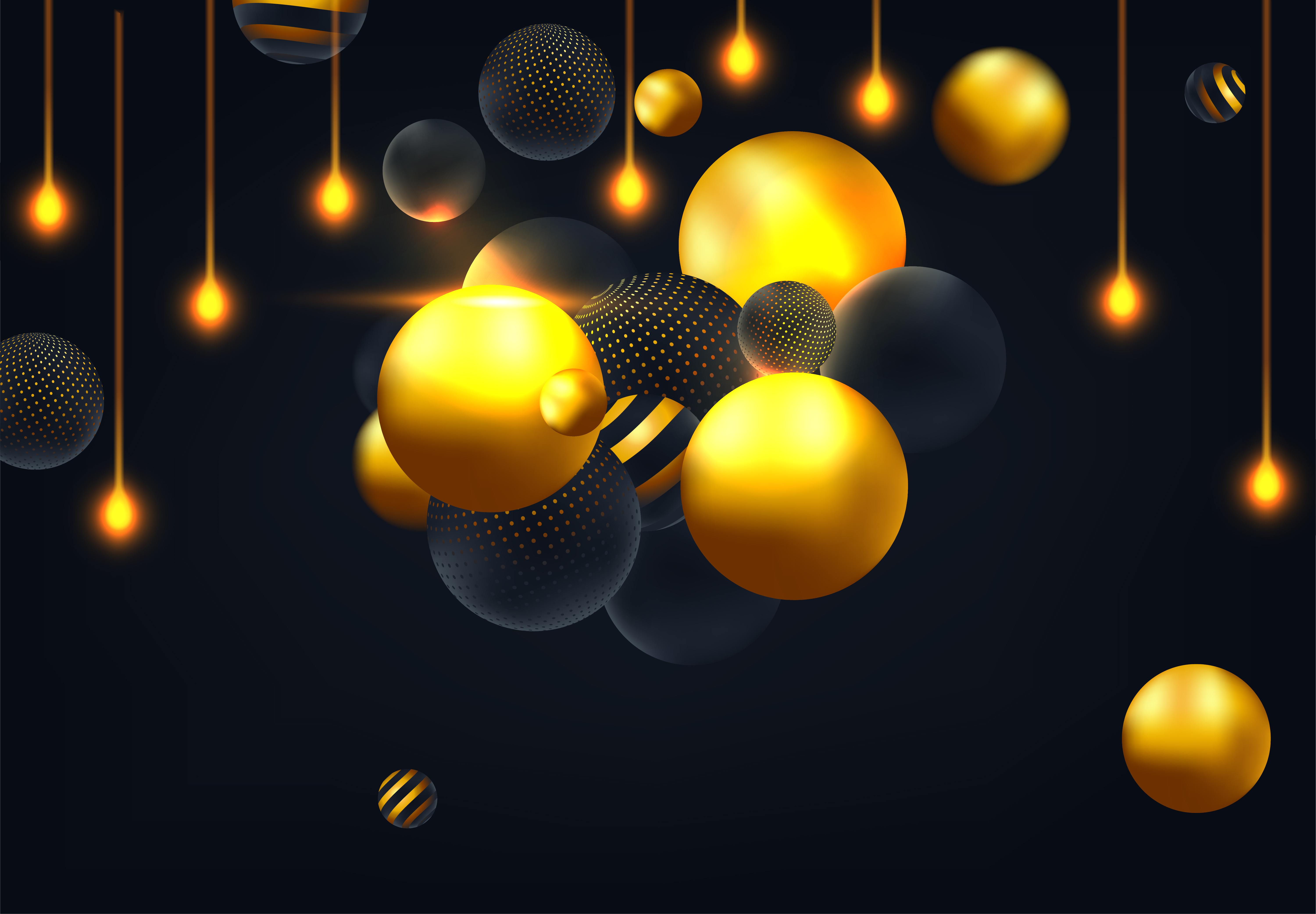 Download Free Abstract Background With 3d Spheres Graphic By Inkwellapp for Cricut Explore, Silhouette and other cutting machines.