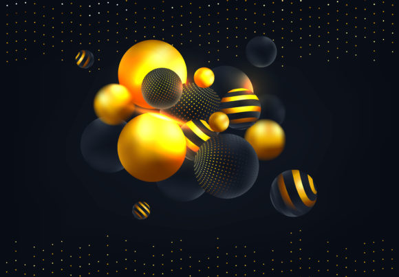 Abstract Background with 3d Spheres Graphic Backgrounds By inkwellapp