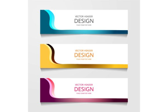 Print on Demand: Abstract Design Banner Graphic Graphic Templates By ojosujono96 - Image 1