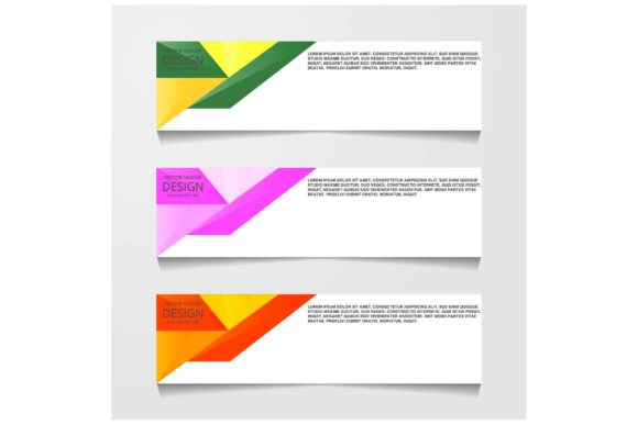 Print on Demand: Abstract Design Banners Graphic Backgrounds By ojosujono96