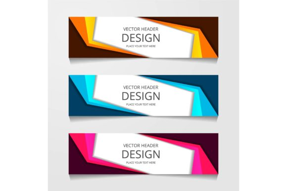 abstract web banner design graphic by ojosujono96 creative fabrica abstract web banner design