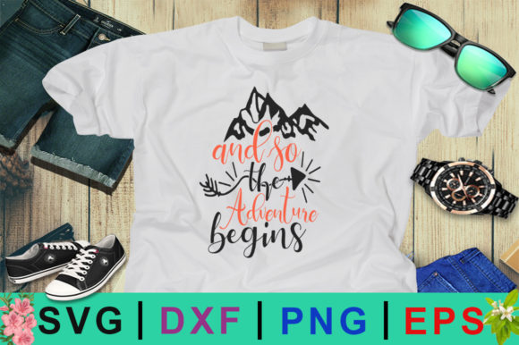 Download Free Adventure Quotes Design Graphic By Design Palace Creative Fabrica for Cricut Explore, Silhouette and other cutting machines.
