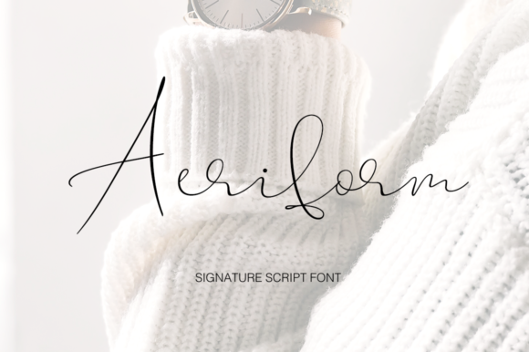 Print on Demand: Aeriform Script & Handwritten Font By Pasha Larin