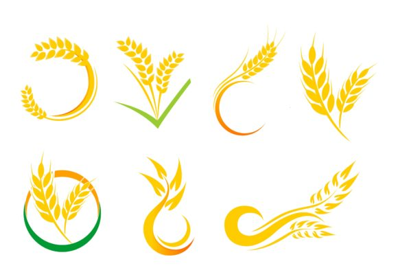 Agriculture Wheat Logo Graphic Logos By DEEMKA STUDIO - Image 1