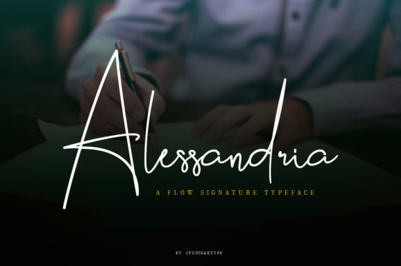 Print on Demand: Alessandria Script & Handwritten Font By StudioAKTYPE