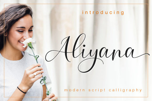 Print on Demand: Aliyana Script Script & Handwritten Font By Sulthan Studio