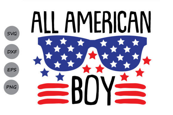 Download Free All American Boy Svg Graphic By Cosmosfineart Creative Fabrica for Cricut Explore, Silhouette and other cutting machines.