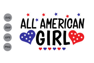 Download Free All American Girl Svg Graphic By Cosmosfineart Creative Fabrica for Cricut Explore, Silhouette and other cutting machines.