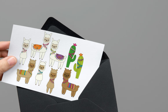 Download Free Alpaca Llama Graphic By Darrakadisha Creative Fabrica for Cricut Explore, Silhouette and other cutting machines.