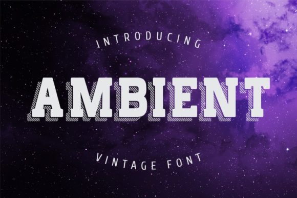 Print on Demand: Ambient Display Font By bywahtung