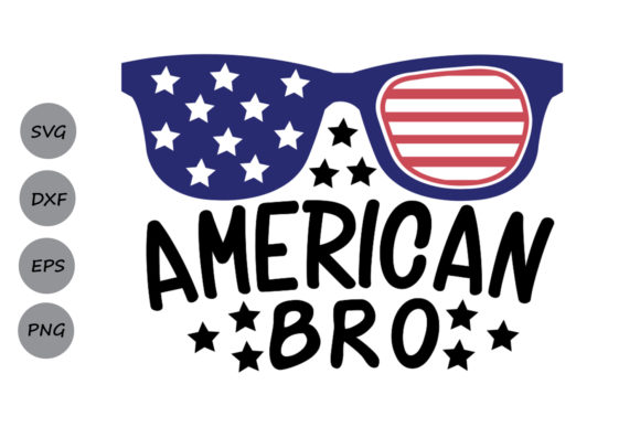 Download Free American Bro Graphic By Cosmosfineart Creative Fabrica for Cricut Explore, Silhouette and other cutting machines.