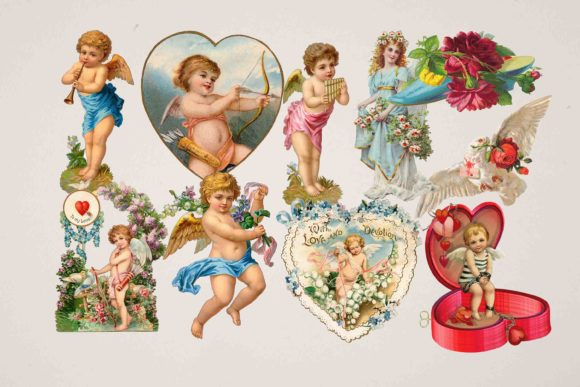 Print on Demand: Angel Clipart Graphic Illustrations By retrowalldecor
