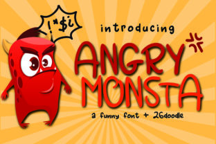 Angry Monsta Font By dmletter31