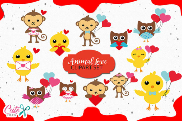 Animal Love Bundle Graphic Illustrations By Cute files
