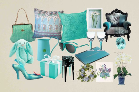 Print on Demand: Aquamarine Fashion Clipart Graphic Illustrations By retrowalldecor