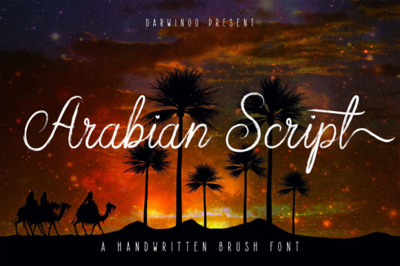 Print on Demand: Arabian Script Script & Handwritten Font By Royaltype