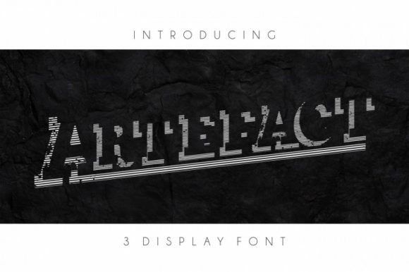 Print on Demand: Artefact Display Font By bywahtung