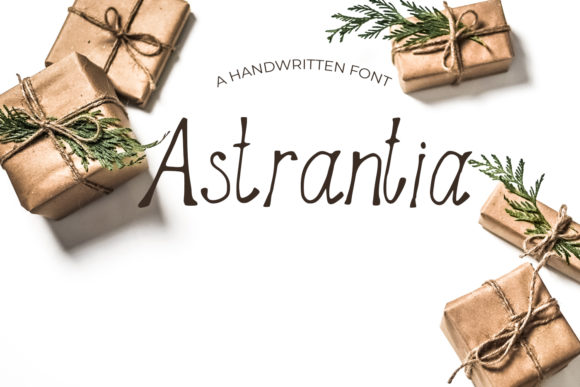 Print on Demand: Astrantia Script & Handwritten Font By Eldamar Studio Fonts