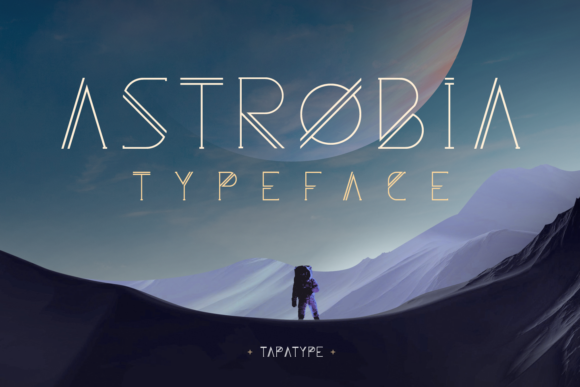 Print on Demand: Astrobia Family Display Font By TapaType