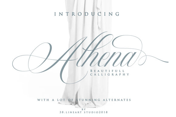 Print on Demand: Athena Script & Handwritten Font By 38.lineart