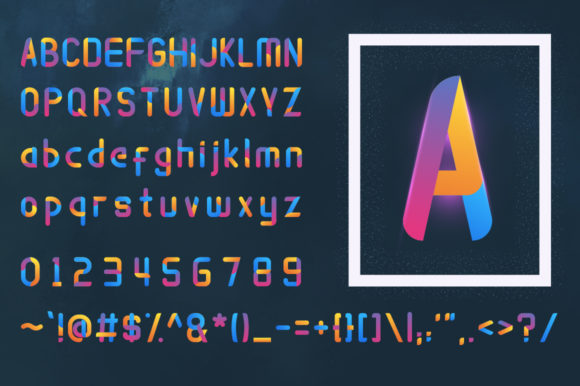 Print on Demand: Atmosfhira Color Fonts Font By Mojibam - Image 2