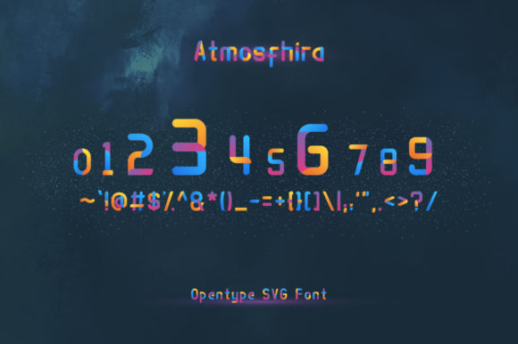 Print on Demand: Atmosfhira Color Fonts Font By Mojibam - Image 4