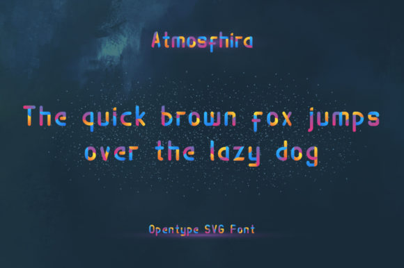 Print on Demand: Atmosfhira Color Fonts Font By Mojibam - Image 6