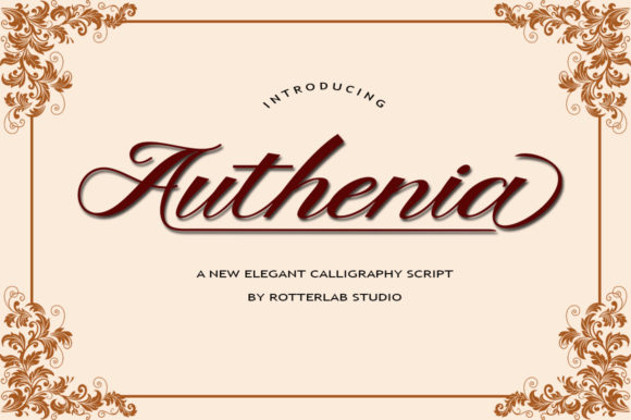 Print on Demand: Authenia Script Script & Handwritten Font By rotterlabstudio