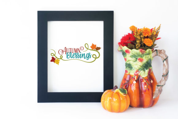 Download Free Autumn Blessings Graphic By Oldmarketdesigns Creative Fabrica for Cricut Explore, Silhouette and other cutting machines.
