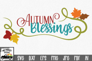 Autumn Blessings SVG Cut File Graphic By oldmarketdesigns