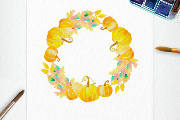 Print on Demand: Autumn Wreath Creator Graphic Add-ons By Digital Hustler