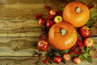 Autumn Background with Seasonal Vegetables and Fruits Graphic By TasiPas