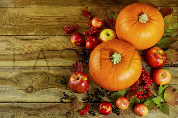 Autumn Background with Seasonal Vegetables and Fruits Graphic By TasiPas Image 1