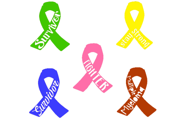 Print on Demand: Awareness Ribbons with Sayings Graphic Crafts By Tranquil Lens Art