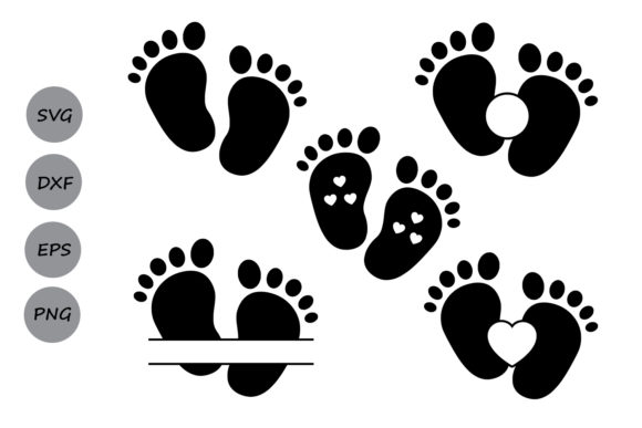Download Free Baby Footprint File Grafik Von Cosmosfineart Creative Fabrica for Cricut Explore, Silhouette and other cutting machines.