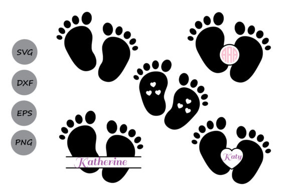 Download Free Baby Footprint File Graphic By Cosmosfineart Creative Fabrica for Cricut Explore, Silhouette and other cutting machines.