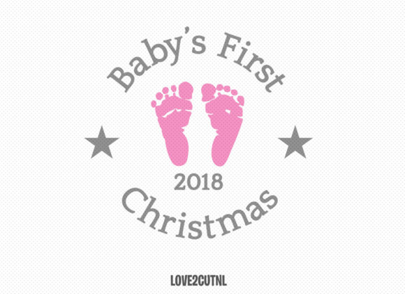 Baby's First Christmas 2018 Ornament SVG Graphic Crafts By Love2cutNL