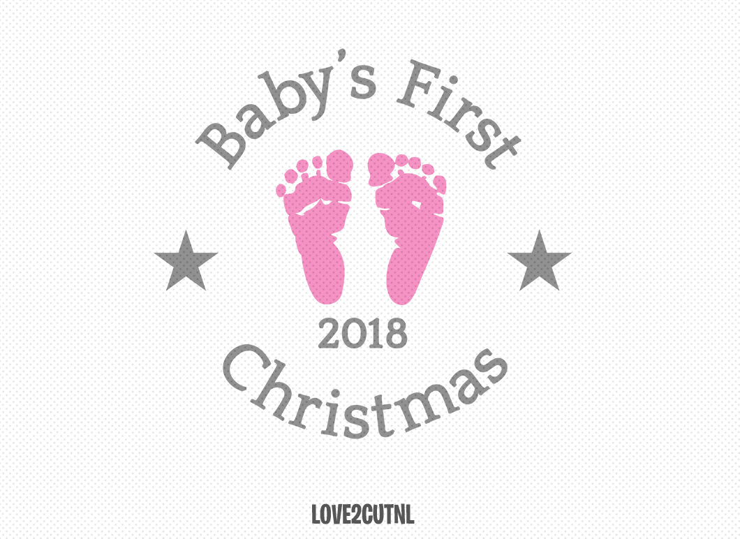 Baby S First Christmas 2018 Ornament Svg Graphic By
