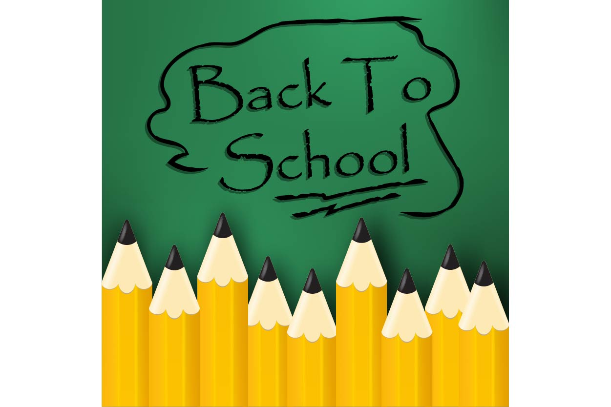 Download Free Back To School Title Poster Design Graphic By Ojosujono96 for Cricut Explore, Silhouette and other cutting machines.