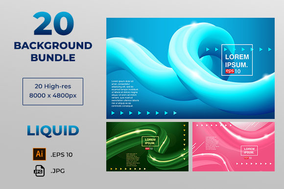 Background Abstract Fluid Color Covers Set Creative Templates